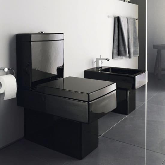 Duravit schwarzes WC