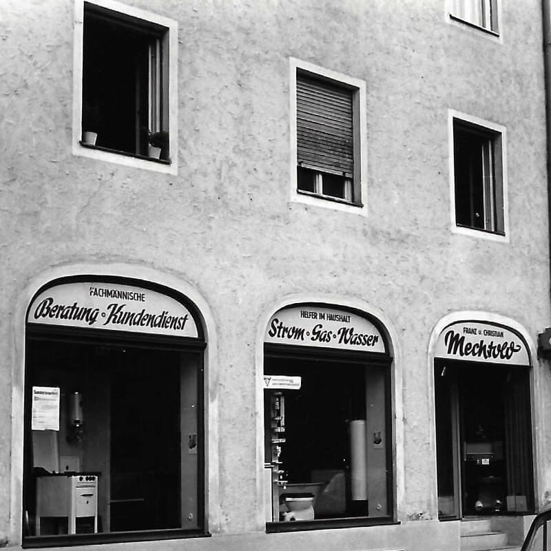 Mechtold Ladenfront Nachkriegszeit 1957